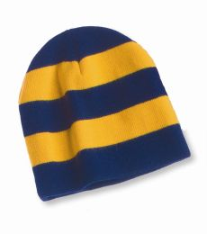 SP01 Sportsman  - Rugby Striped Knit Beanie -