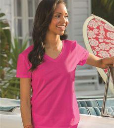 L39VR Fruit of the Loom Ladies' 5 oz., 100% Heavy Cotton HD® V-Neck T-Shirt