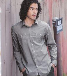 B8257 Burnside - Mini-Check Long Sleeve Shirt