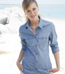 B5255 Burnside - Ladies' Long Sleeve Chambray