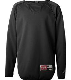 Augusta Sportswear 2106 Youth Long Sleeve Flatback Mesh Fleece Pullover