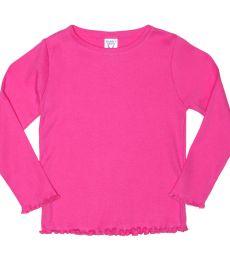 Rabbit Skins® Toddler Long Sleeve Baby Rib T-shirt