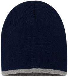 SP09 Sportsman  - 8 Inch Bottom Striped Knit Cap -