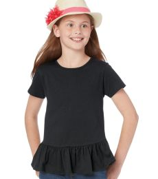 2627 LA T Girls' Fine Jersey Ruffle T-Shirt