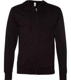 SS150JZ Independent Trading Co. Lightweight Jersey Hooded Full-Zip T-Shirt