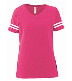 LAT 3537 Women's Football V-Neck