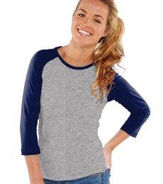 L3630 LA T Junior 3/4 Sleeve Baseball T-Shirt