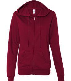 SS650Z Independent Trading Co. Juniors' Lightweight Full-Zip Hooded Sweatshirt