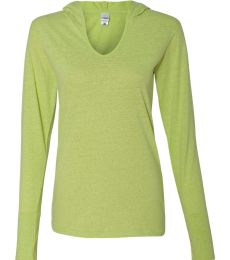 J America 8263 Ladies' Twisted Slub Jersey Hooded Pullover T-Shirt