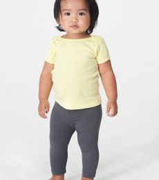 4000 American Apparel Infant Baby Rib Short Sleeve Lap T