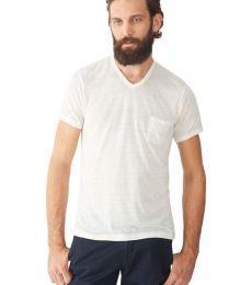 Alternative Apparel 42196 Vintage Burnout V-Neck T-Shirt