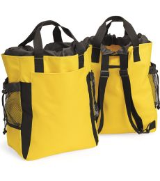 7291 UltraClub® Polyester Backpack Tote