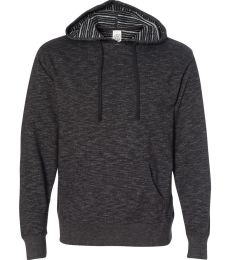 PRM22BP Independent Trading Co. Men's Baja Stripe French Terry Hooded Pullover