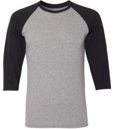 Jerzees 601RR Dri-Power Active Triblend Baseball Raglan T-Shirt