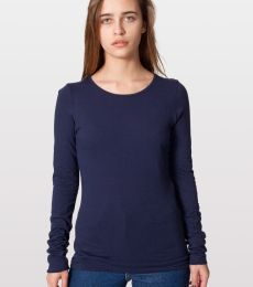 6307 American Apparel Womens Sheer Jersey Long Sleeve T