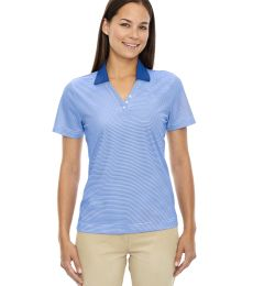 75115 Ash City - Extreme Eperformance™ Ladies' Launch Snag Protection Striped Polo