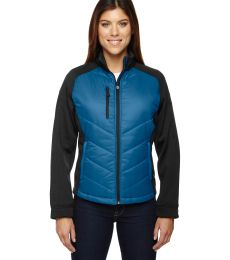 78662 Ash City - North End Sport Red Ladies' Epic Insulated Hybrid Bonded Fleece Jacket