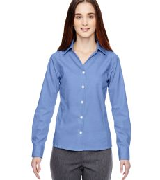 78690 Ash City - North End Sport Blue Ladies' Precise Wrinkle-Free Two-Ply 80's Cotton Dobby Taped Shirt