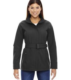 78801 Ash City - North End Sport Blue Ladies' Skyscape Three-Layer Textured Two-Tone Soft Shell Jacket