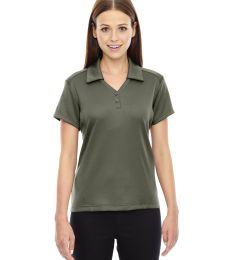78803 Ash City - North End Sport Red Ladies' Exhilarate Coffee Charcoal Performance Polo with Back Pocket