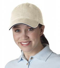 8104 UltraClub® Classic Cut Chino Cotton Twill Unconstructed Sandwich Cap
