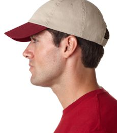 UltraClub 8105 Unstructured Two-Tone Dad Hat