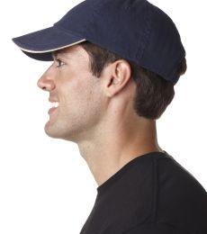UltraClub 8112 Brushed Twill Sandwich Dad Hat