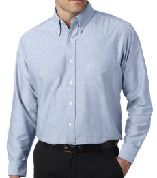8970T UltraClub® Men's Tall Classic Blend Wrinkle-Free Long-Sleeve Oxford Woven Shirt