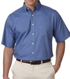 8972T UltraClub® Men's Tall Classic Wrinkle-Free Blended Short-Sleeve Oxford Woven Shirt