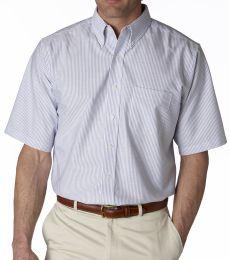 8972 UltraClub® Men's Classic Wrinkle-Free Blend Short-Sleeve Oxford Woven Shirt