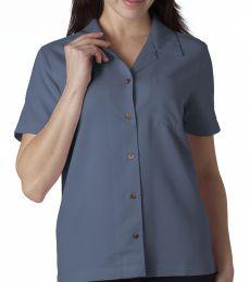 8981 UltraClub® Ladies' Blend Cabana Breeze Camp Shirt
