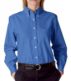 8990 UltraClub® Ladies' Classic Wrinkle-Free Blend Long-Sleeve Oxford Woven Shirt