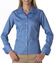 8992 UltraClub® Ladies' Whisper Elite Twill Blend Woven Shirt