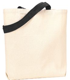 9868 UltraClub® Organic Recycled Cotton Canvas Tote With Contrasting Handles