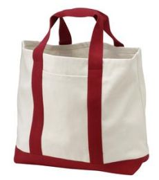 Port Authority B400 Two-Tone Shopping Tote Bag