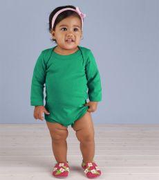 4411 Rabbit Skins Infant Baby Rib Long-Sleeve Creeper