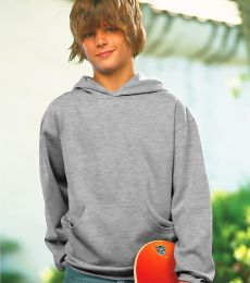 L2296 LA T Youth Fleece Hooded Pullover Sweatshirt with Pouch Pocket
