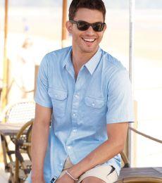 B9265 Burnside - Dobby-Stripe Short Sleeve Shirt