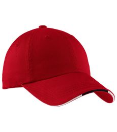 Port Authority C830A    Sandwich Bill Cap with Striped Closure