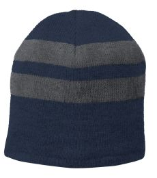 Port Authority C922 Port & Company   Fleece-Lined Striped Beanie Cap