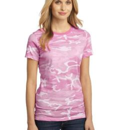 District Made 153 Ladies Perfect Weight Camo Crew Tee DM104CL