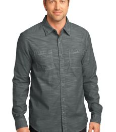 DM3800 District Made Mens Long Sleeve Washed Woven Shirt
