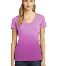 DM4310 District Made Ladies Dip Dye Rounded Deep V-Neck Tee