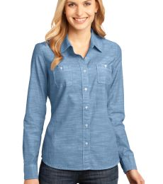 DM4800 District Made Ladies Long Sleeve Washed Woven Shirt