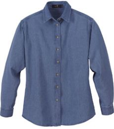 78004 Ash City Ladies' Denim Long Sleeve Shirt