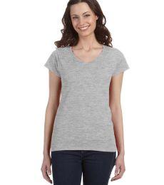 64V00L Gildan Junior Fit Softstyle V-Neck T-Shirt