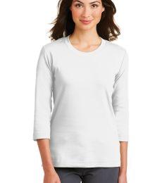 Port Authority L517    Ladies Modern Stretch Cotton 3/4-Sleeve Scoop Neck Shirt