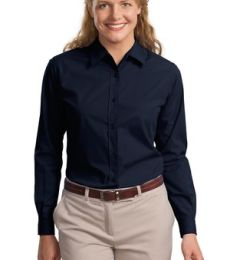 Port Authority Ladies Long Sleeve Easy Care  Soil Resistant Shirt L607