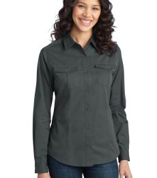Port Authority L649    Ladies Stain-Release Roll Sleeve Twill Shirt