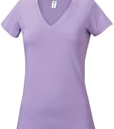 1336V Delta Apparel Junior 30/1's V-Neck Tee